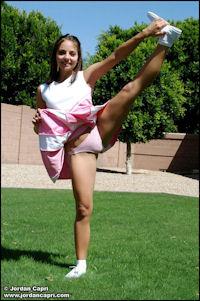 Watch Jordan tumble around in the grass in her little cheerleader ...